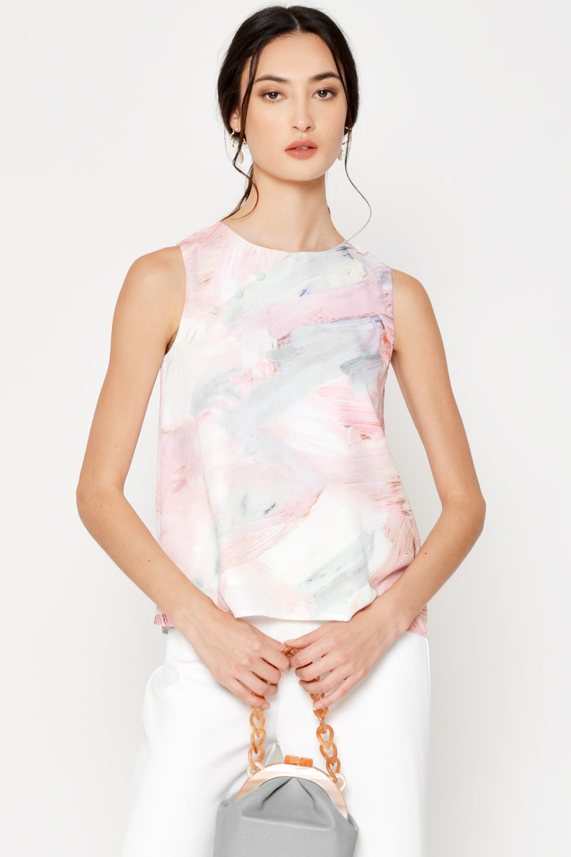 KRYSTIN WATERCOLOUR BUTTON TOP
