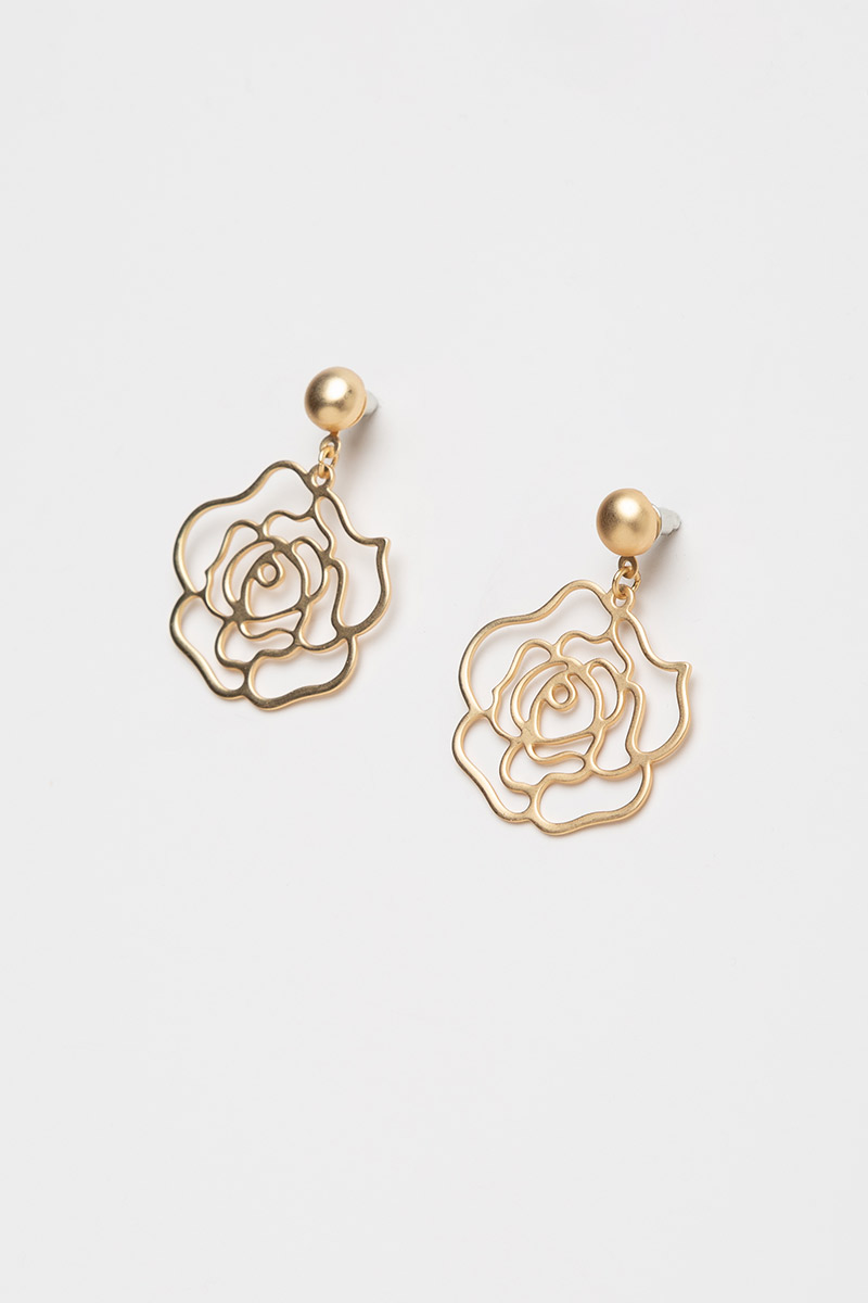 BLOOMING ROSE DANGLE EARRINGS