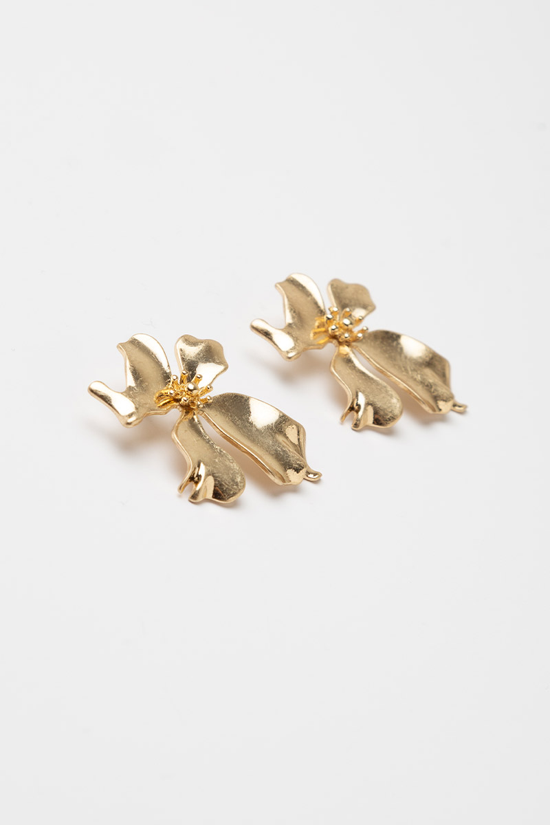 GRAND GOLD FLOWER EARRINGS