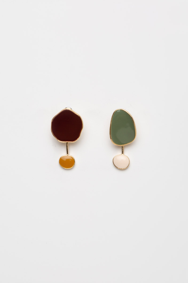IRREGULAR COLOURBLOCK CANDY DROP EARRINGS