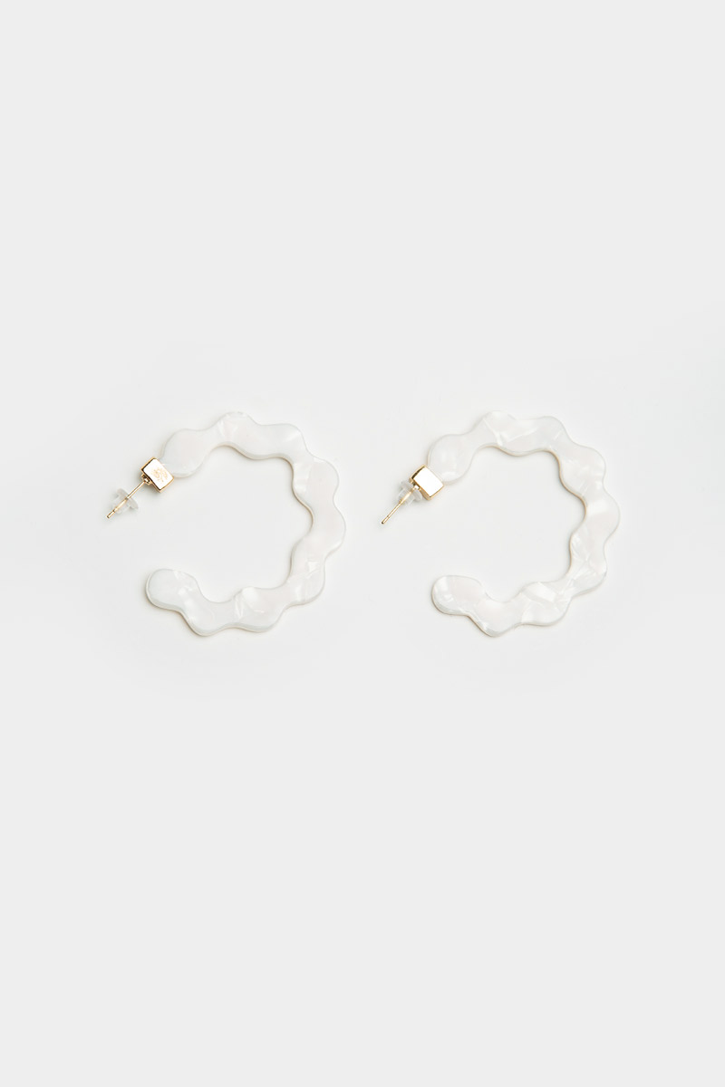 MARBLE WAVY EARRINGS
