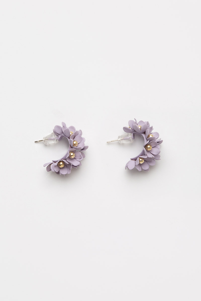 MINI FLORAL GARLAND HOOP EARRINGS