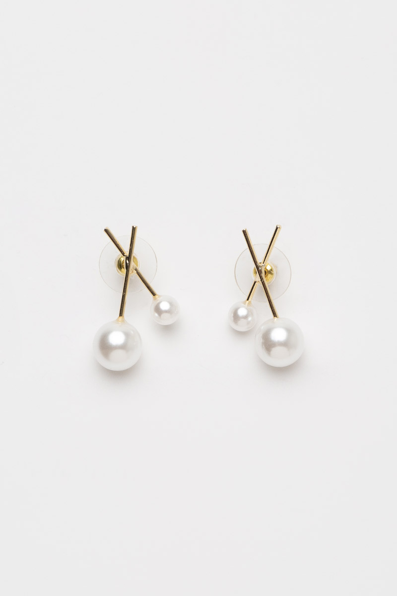 STICKS AND PEARLS EARRINGS