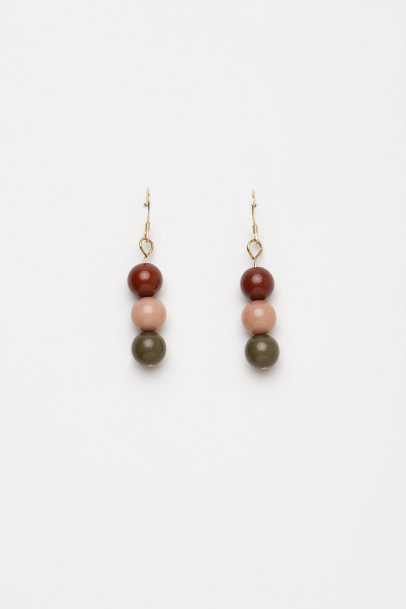 TRIO POPSICLE BEAD DROP EARRINGS