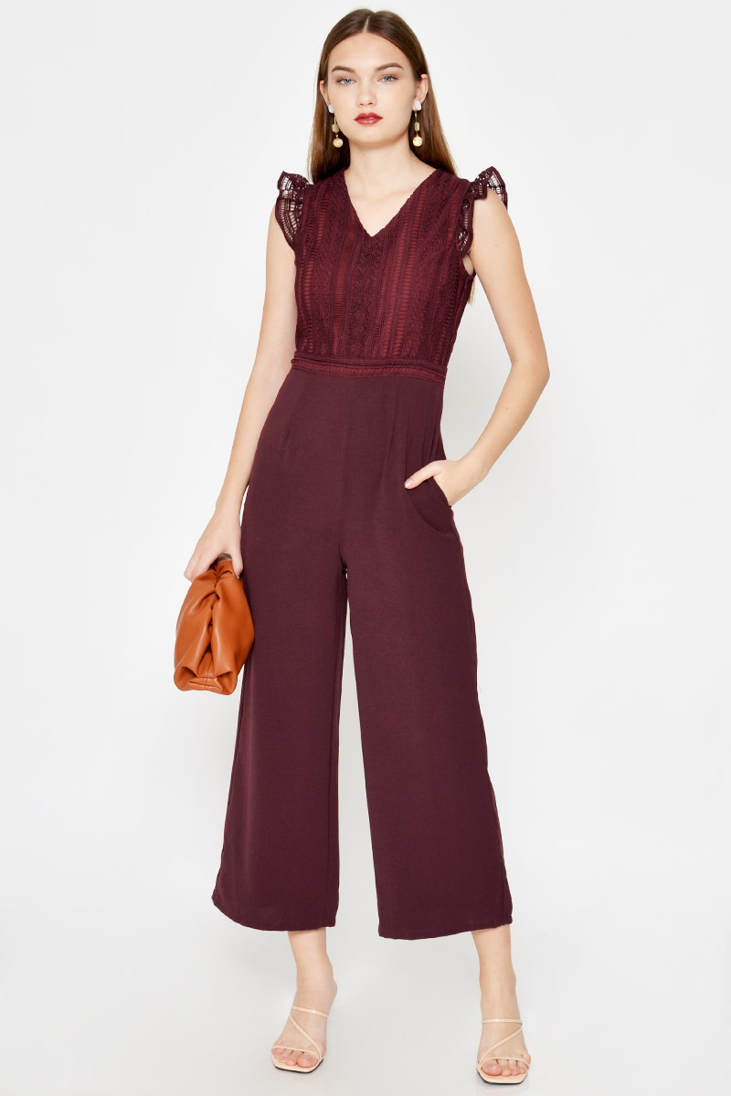 JONES LACE JUMPSUIT