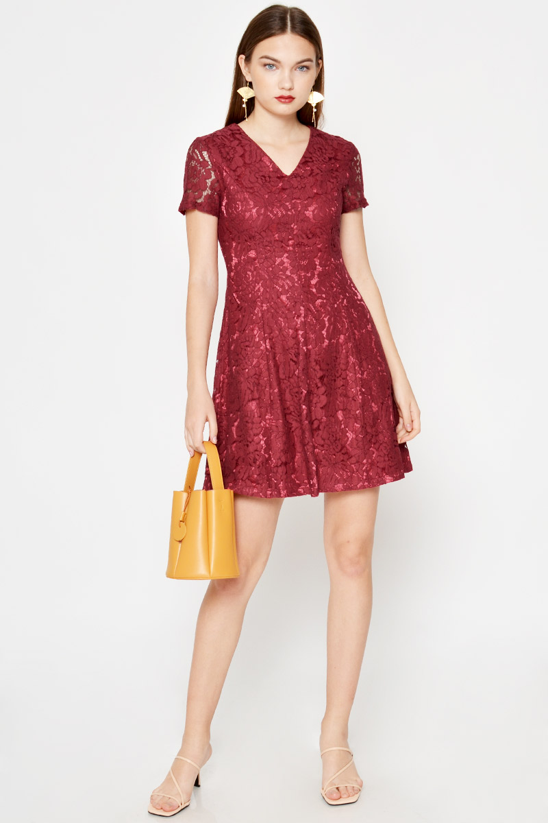 LYNDA LACE SKATER DRESS