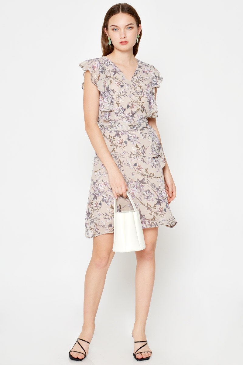 RONNA FLORAL MINI DRESS