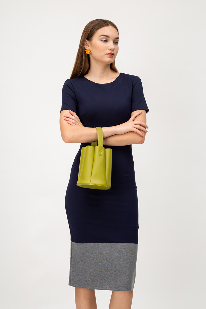 ODELA COLOURBLOCK BODYCON MIDI DRESS