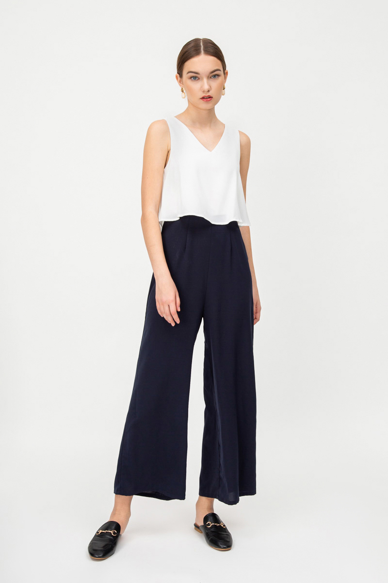 EVAN COLOURBLOCK LAYERED JUMPSUIT