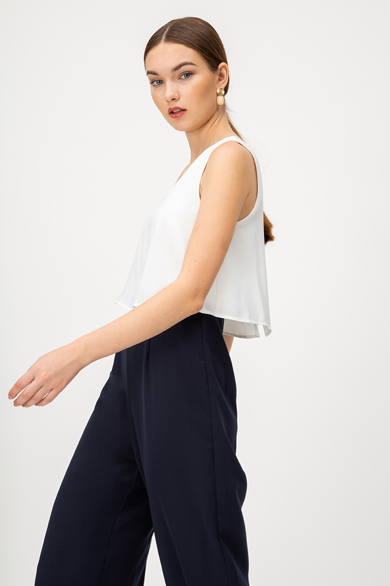 *BACKORDER* EVAN COLOURBLOCK LAYERED JUMPSUIT
