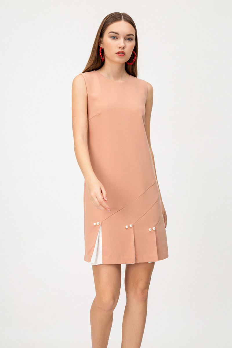DIANA PEARL PLEATED DRESS
