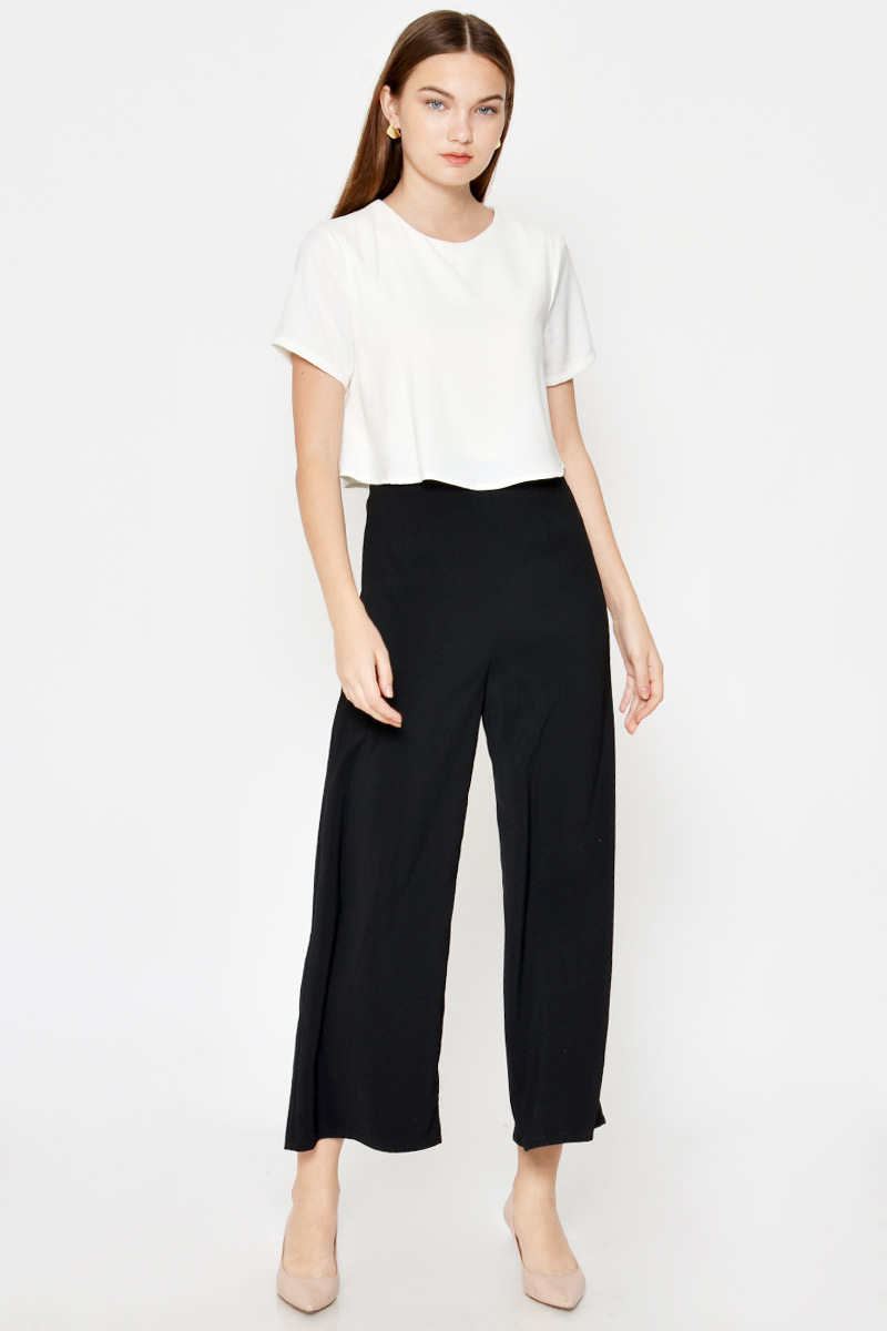 ALANDRA COLOURBLOCK LAYERED JUMPSUIT