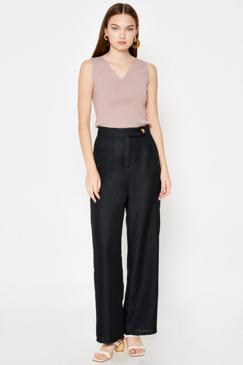JARAH HIGHWAIST BUTTON FLARE PANTS
