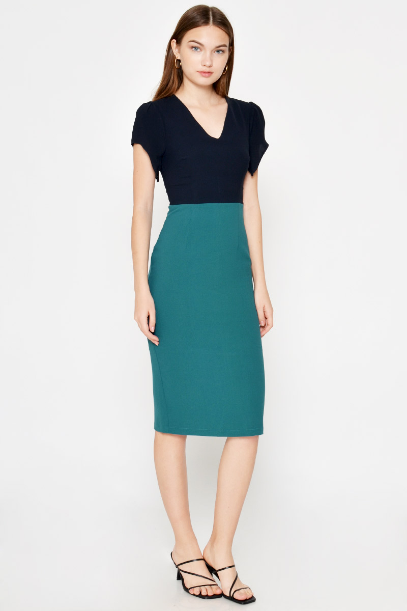 TREMAINE COLOURBLOCK MIDI DRESS