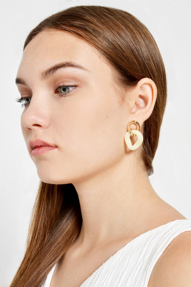 COLOURBLOCK LINKED EARRINGS