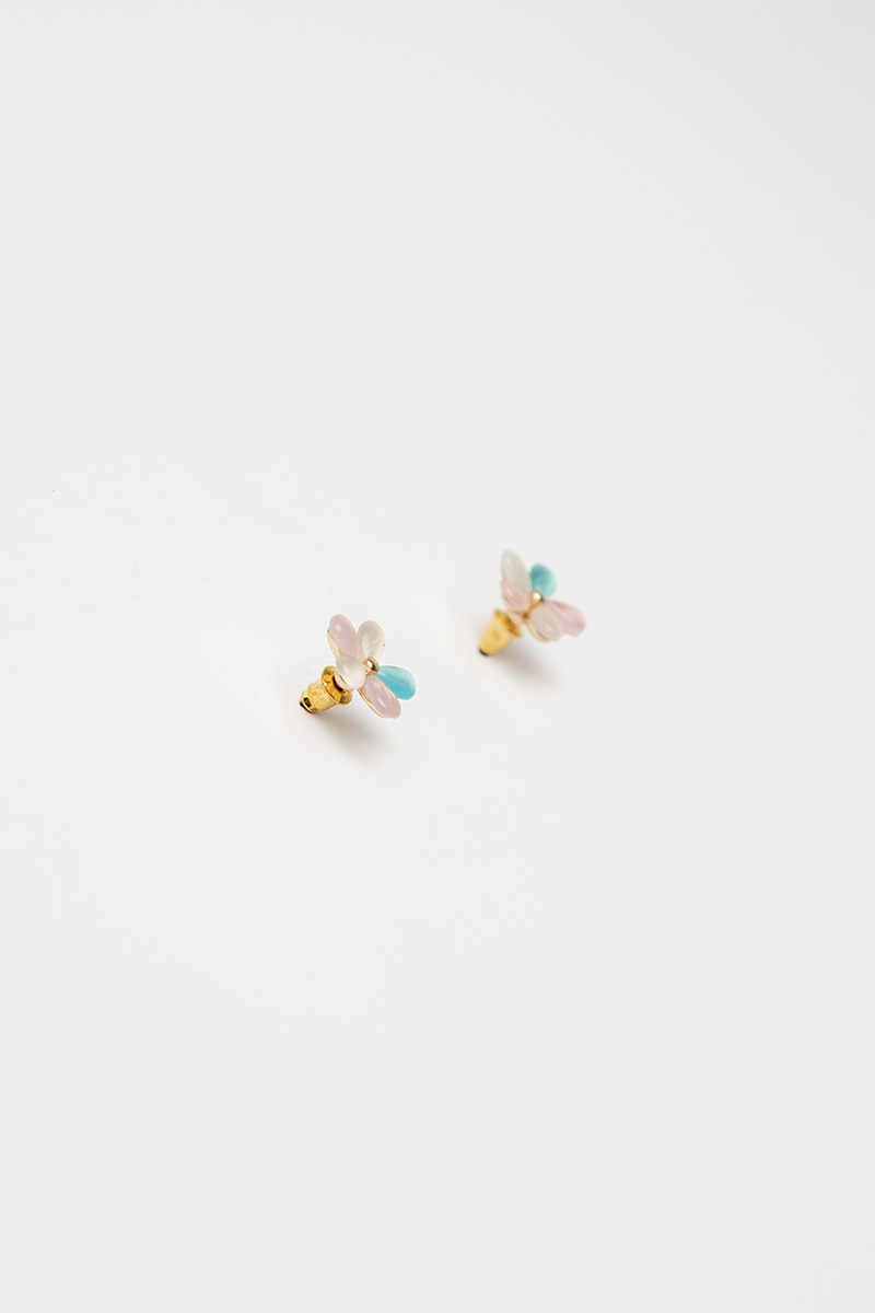 COLOURFUL PETALS FLOWER EARRINGS