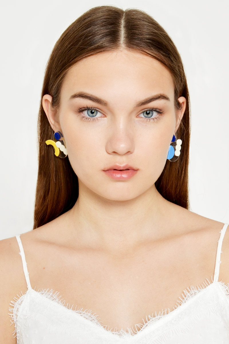 IRREGULAR GEOMETRIC ACRYLIC EARRINGS