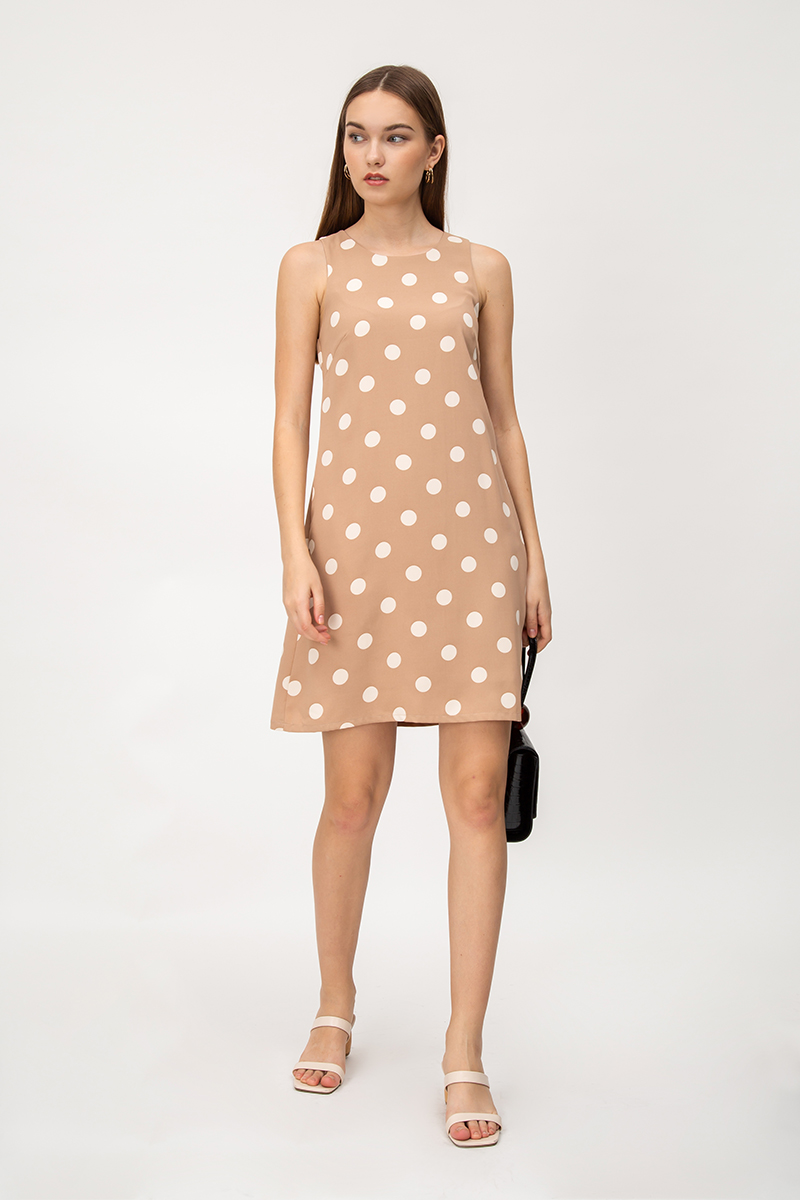 IRENE POLKADOT SHIFT DRESS