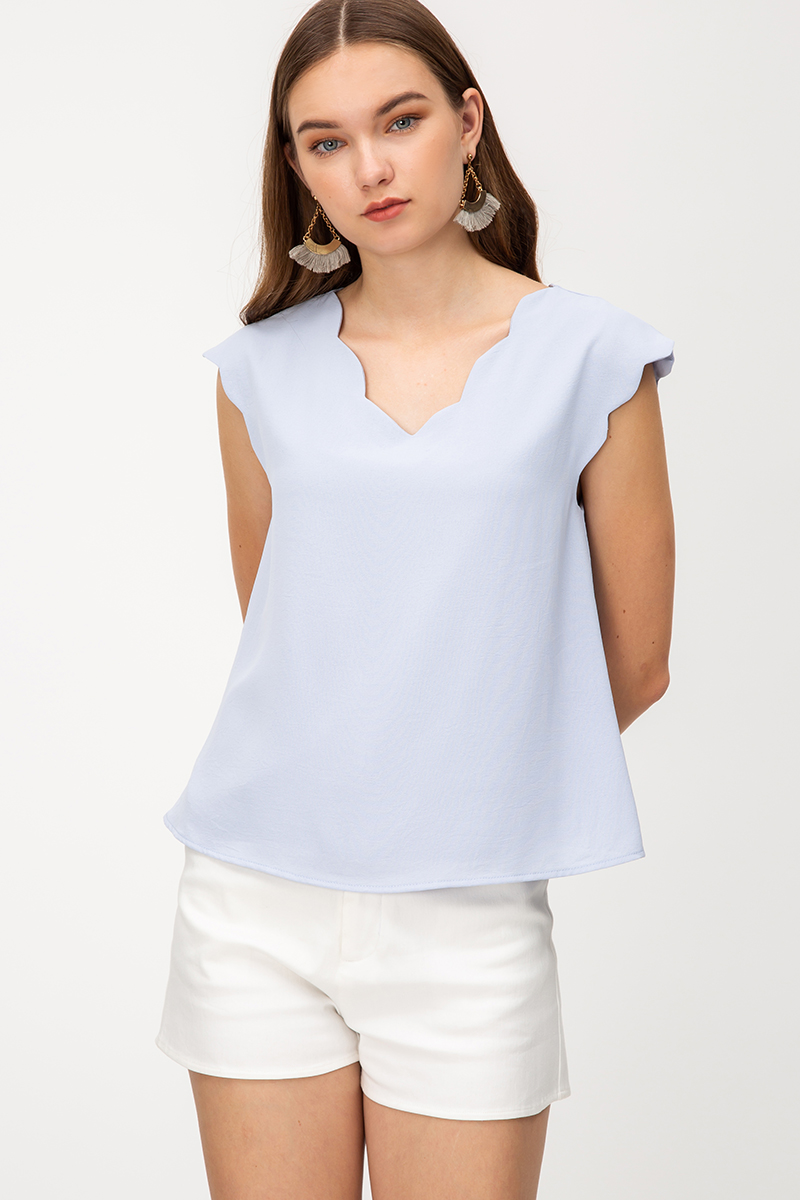 IDRIS SCALLOP TOP