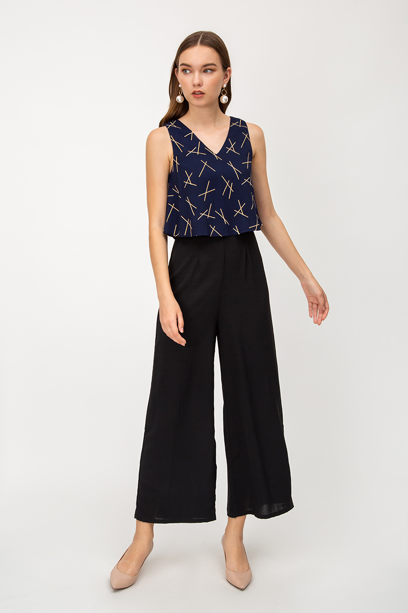 DITA GEOMETRIC LAYERED JUMPSUIT