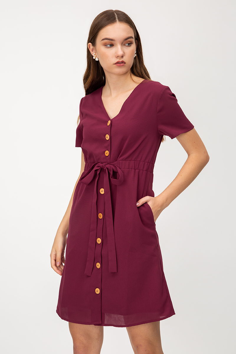 JENSEN BUTTONDOWN DRESS