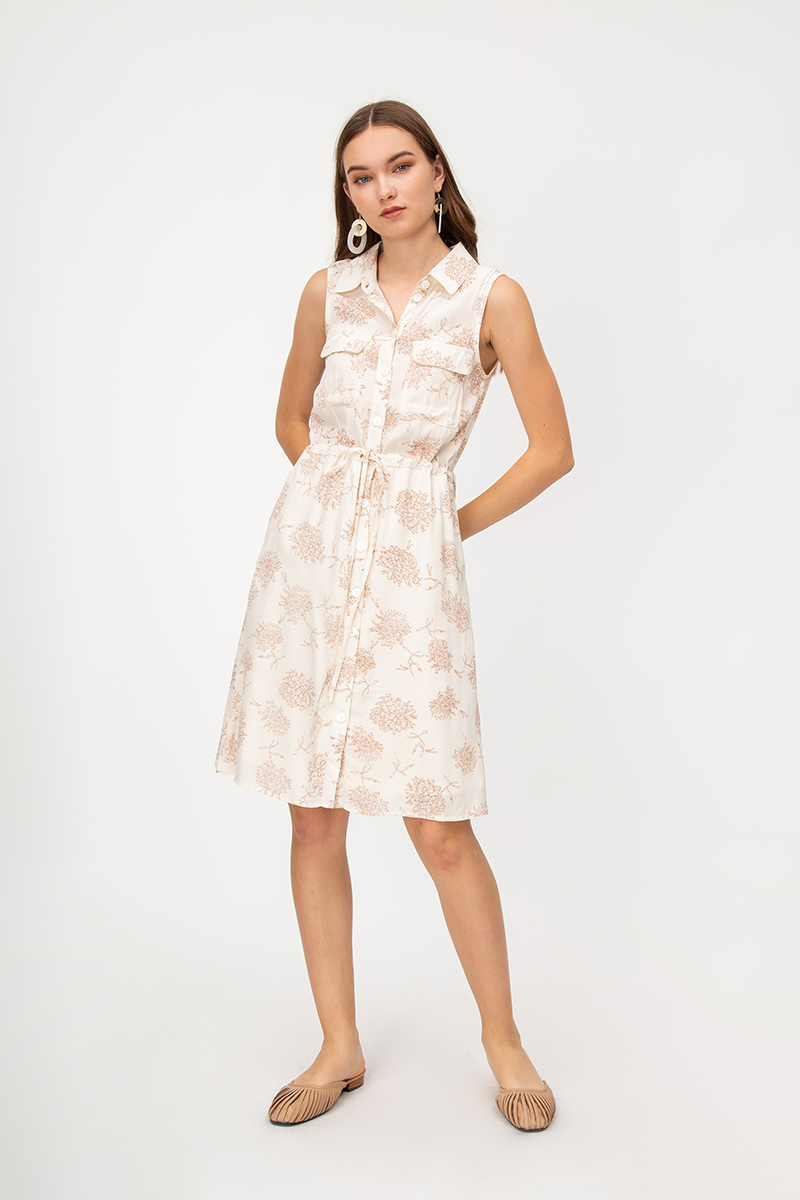 DEZIREE FLORAL DRAWSTRING DRESS