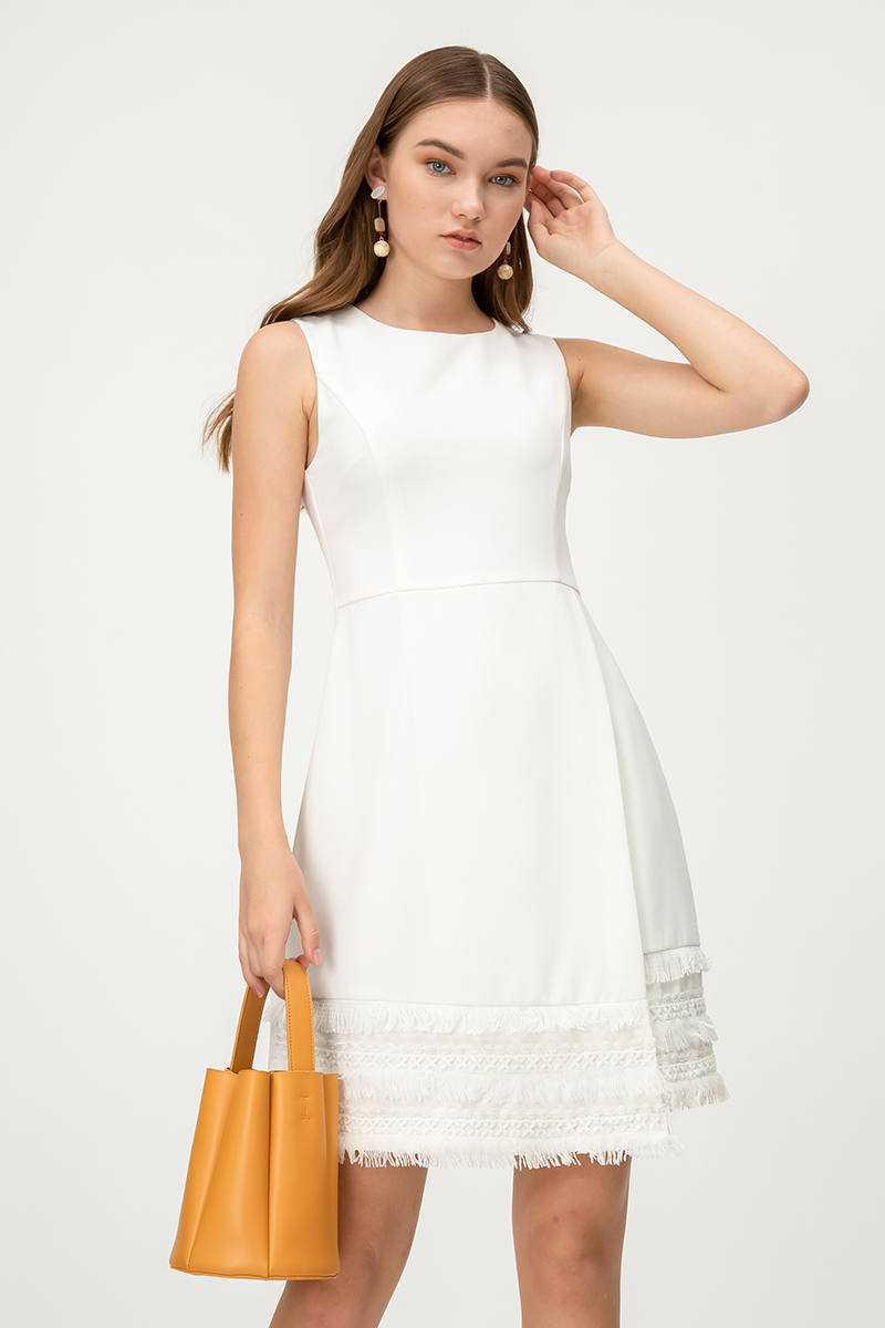 ETTO FOLDOVER CROCHET DRESS