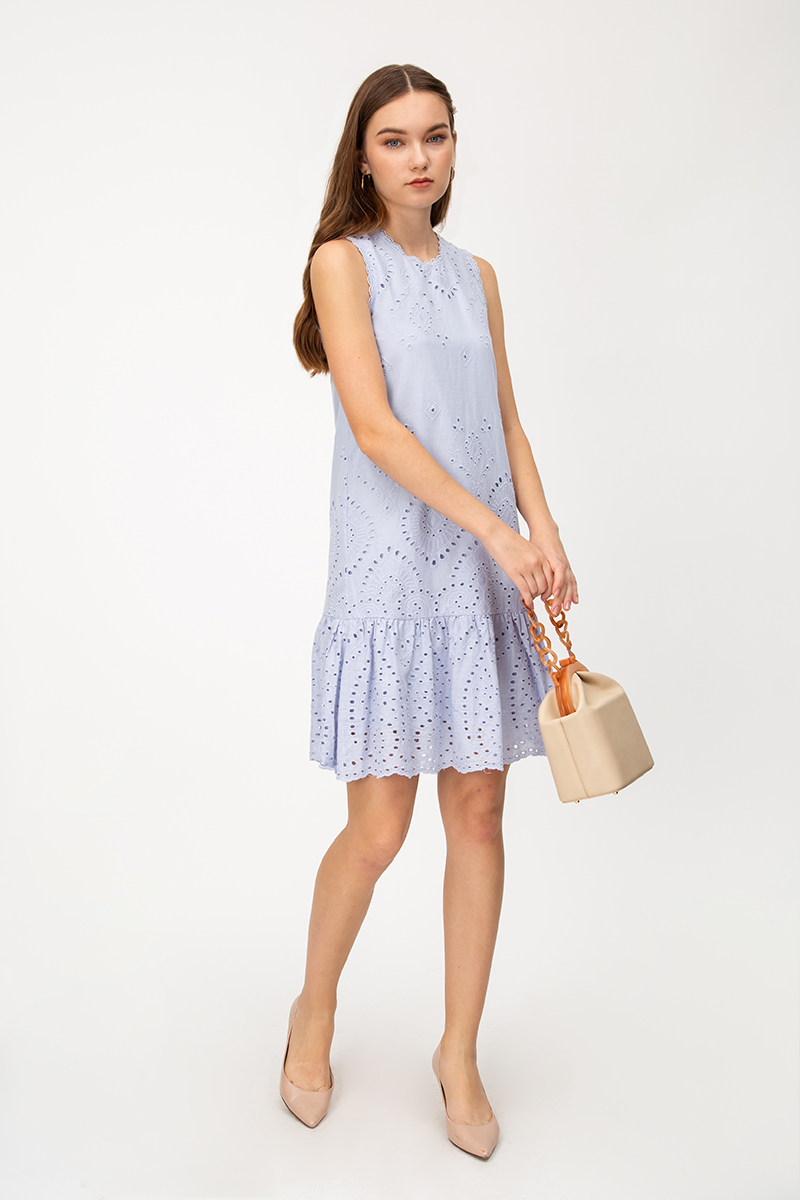 KAZIO EYELET DROPWAIST DRESS
