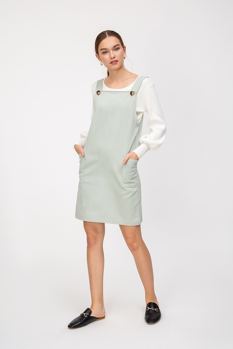 SKYLA DENIM OVERALL DRESS