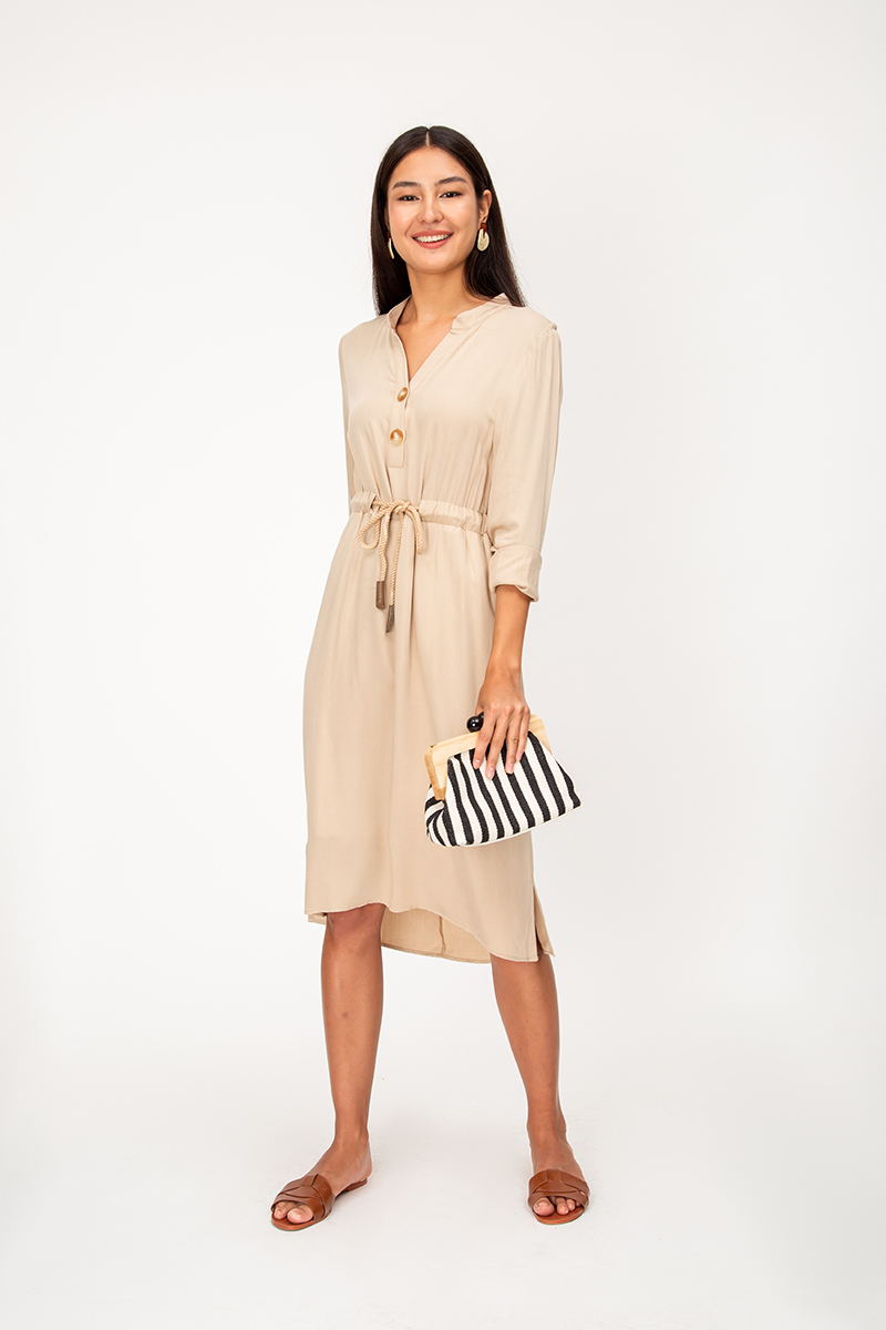 SOFIE DRAWSTRING SHIRT DRESS