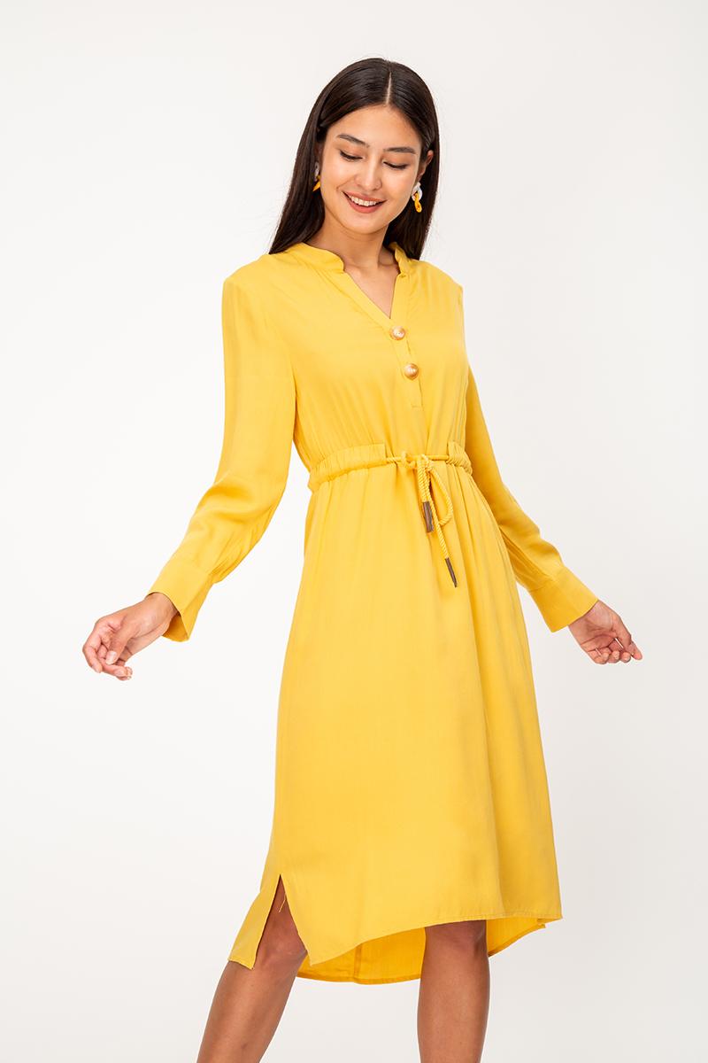 SOFIE DRAWSTRING SHIRT DRESS