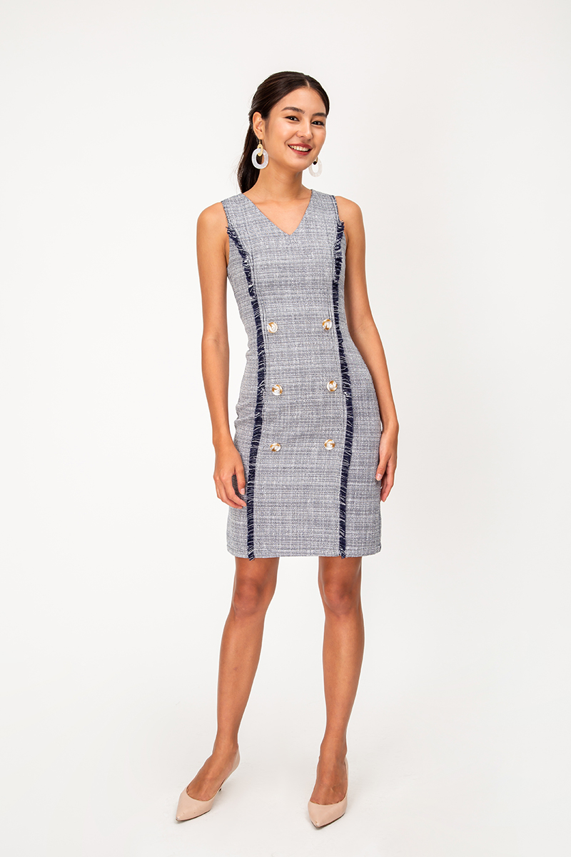 KOJA TWEED SHEATH DRESS