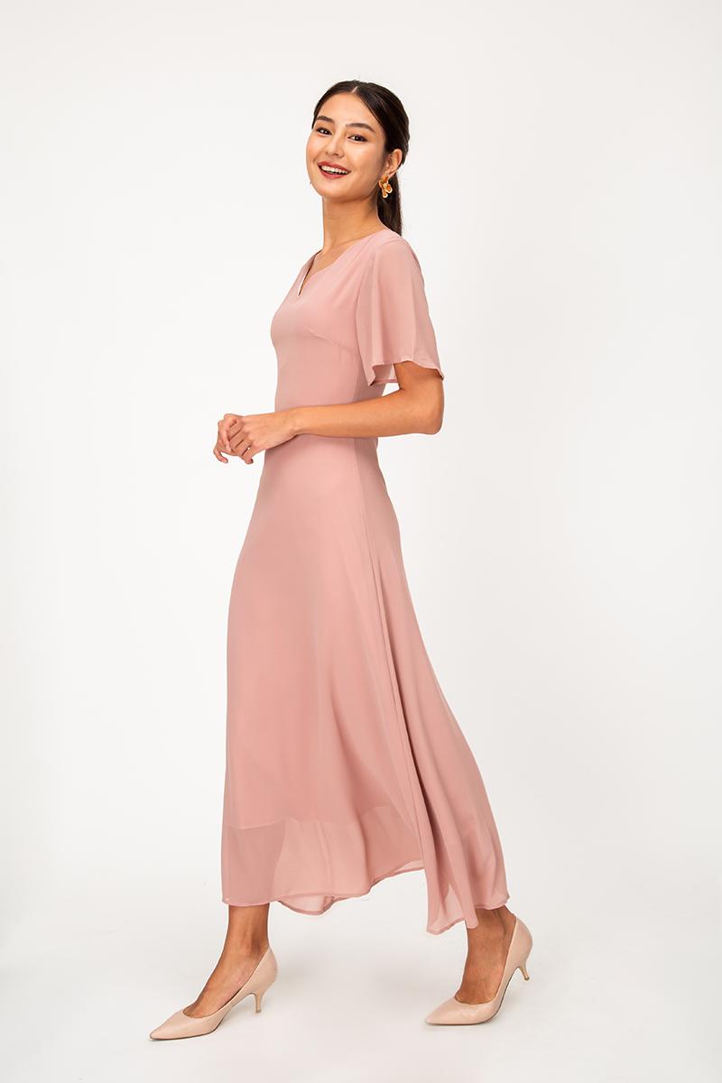 MALLORY TIEBACK MAXI DRESS