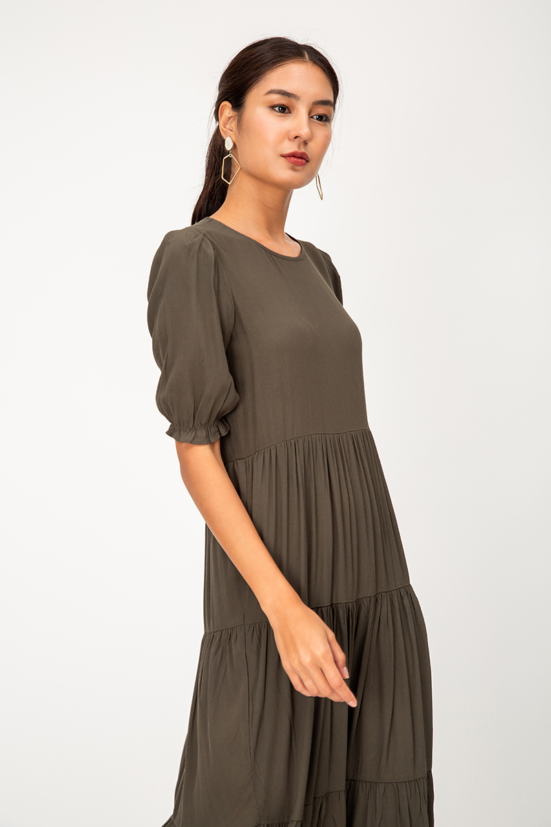 JULES TIERED MIDI DRESS