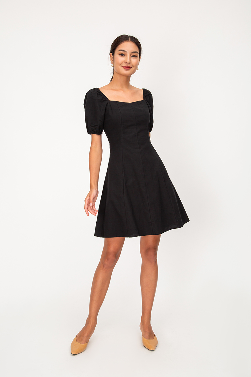 *BACKORDER* GIGI PUFF SLEEVE DRESS