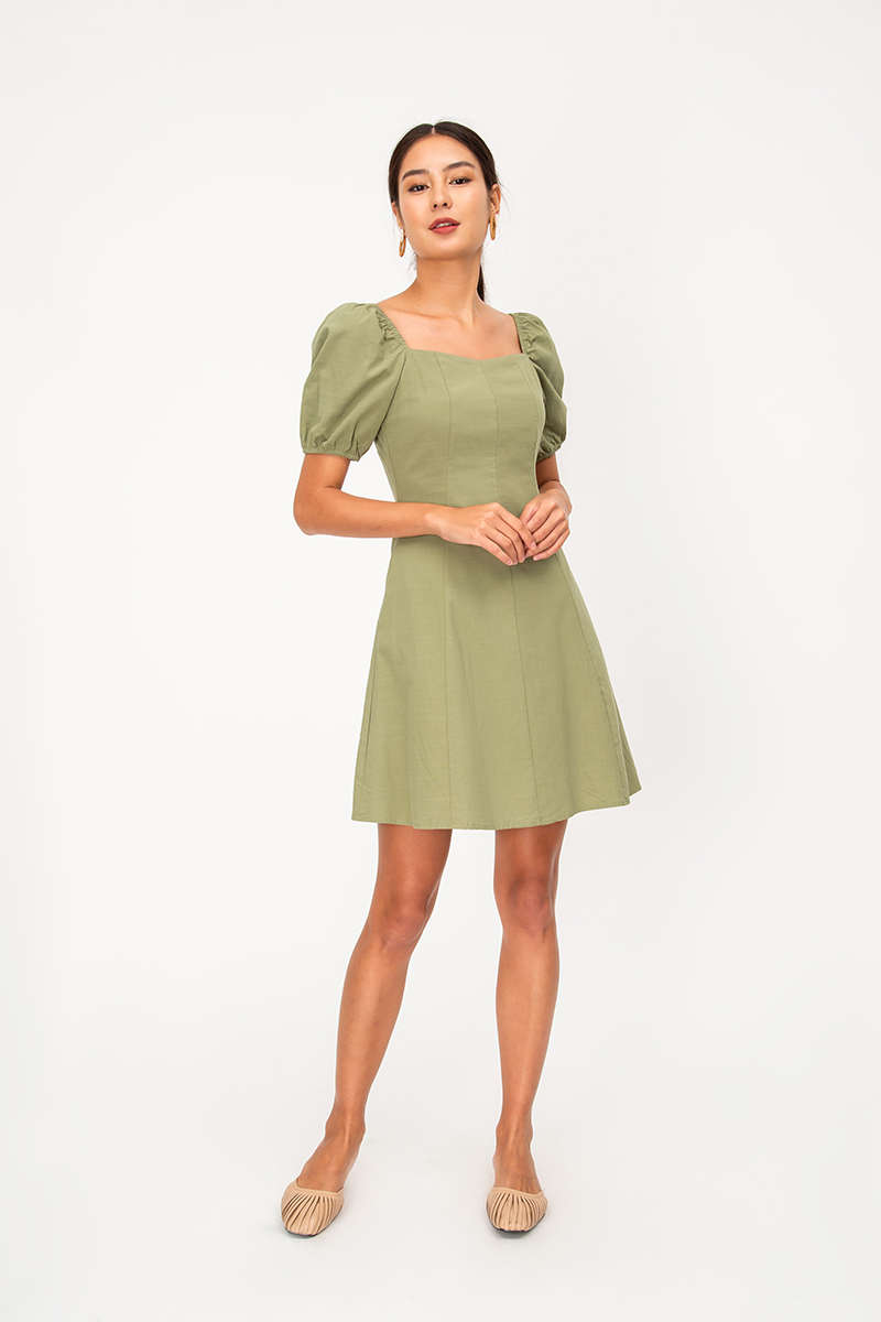 GIGI PUFF SLEEVE DRESS