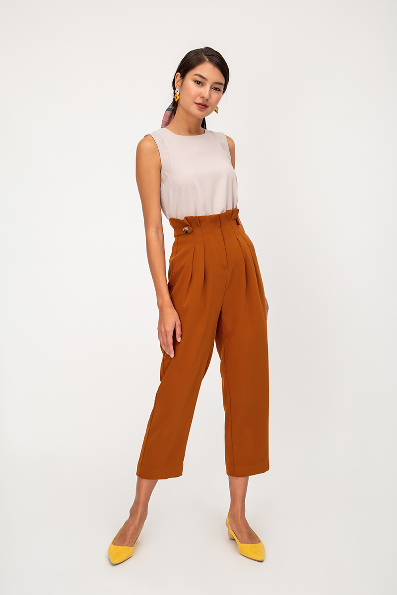 KELSO PAPERBAG CIGARETTE PANTS