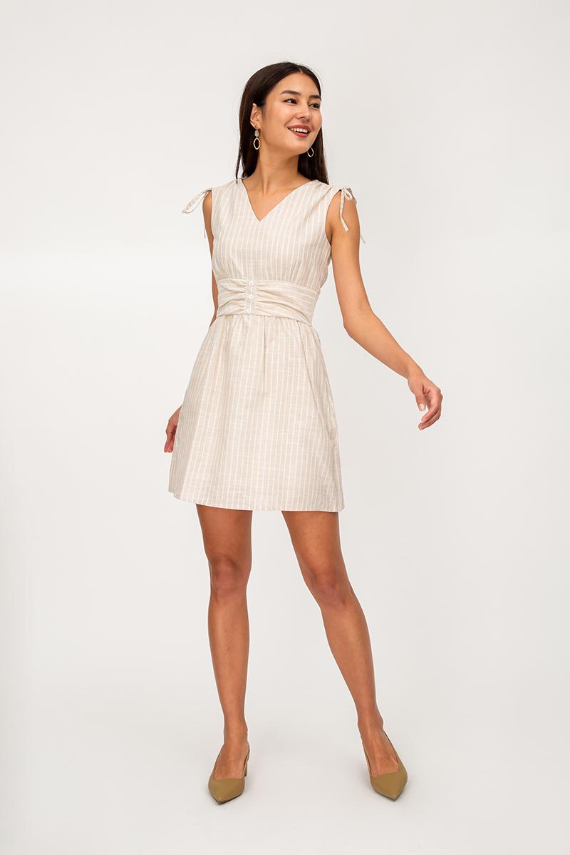 AUDRA STRIPE FLARE DRESS