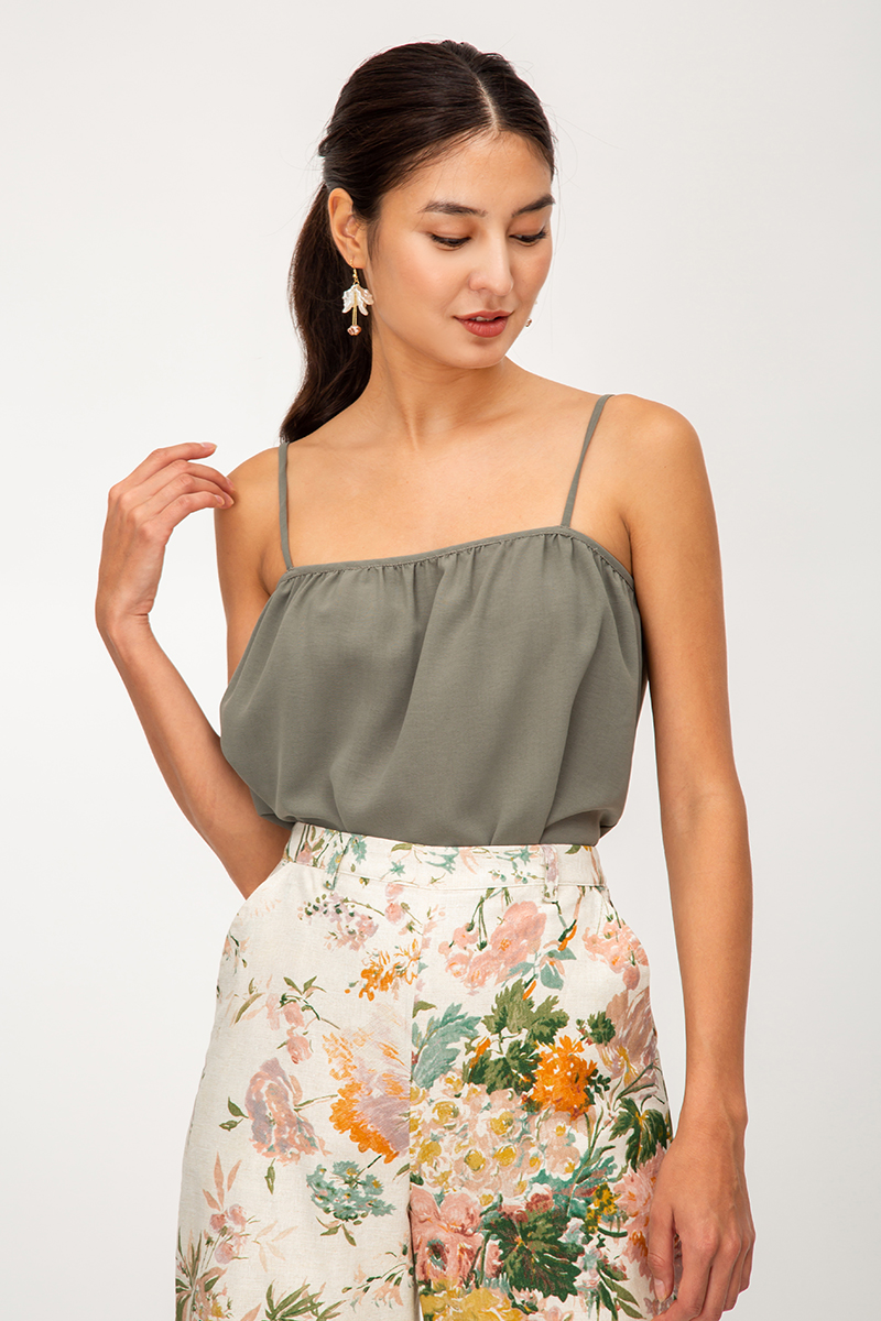 KYRENE RUCHED CAMI TOP