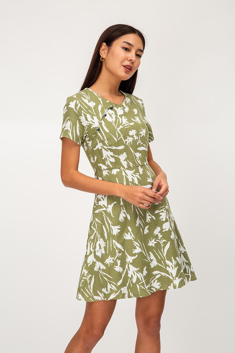 MYREEN FLORAL FLARE DRESS