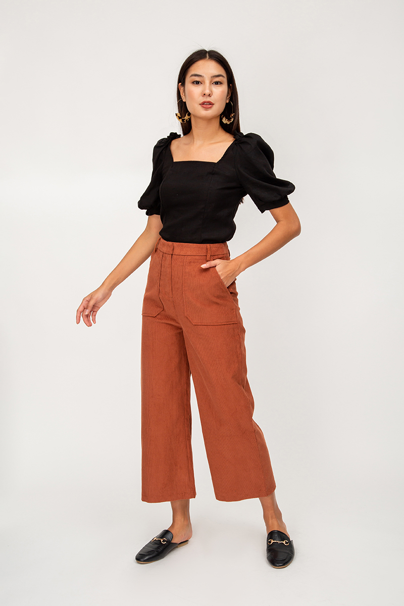 DRISEN CORDUROY HIGHWAIST PANTS