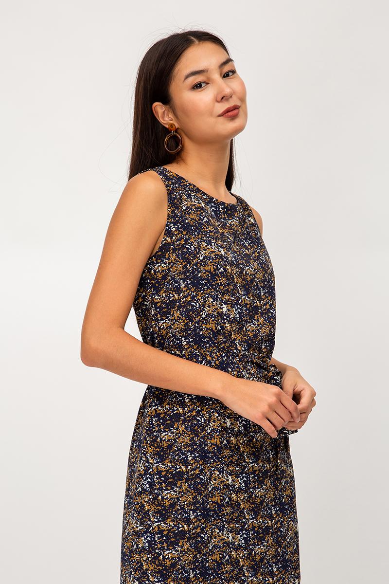 ELORA ABSTRACT DRESS W SASH