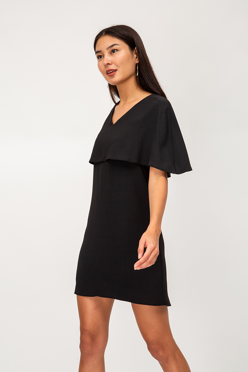 JUDITH CAPE LAYERED DRESS