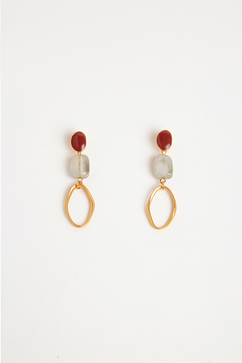 IRREGULAR SHAPES AND LOOP DROP EARRINGS