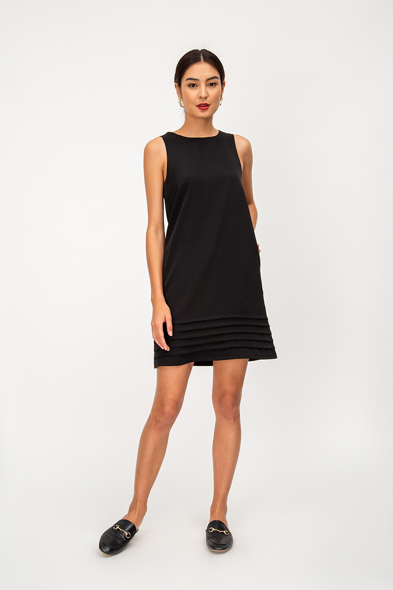 HESTIA LAYERED PANEL SHIFT DRESS