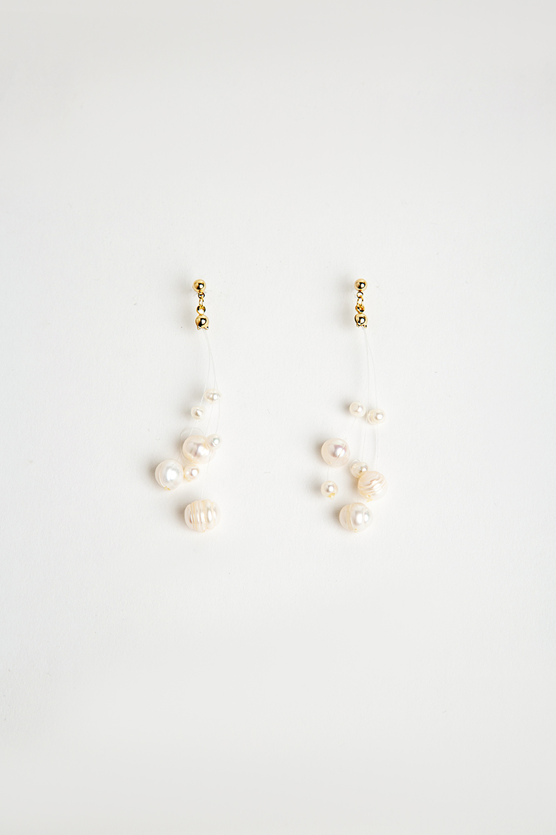 MULTI PEARL DANGLE DROP EARRINGS