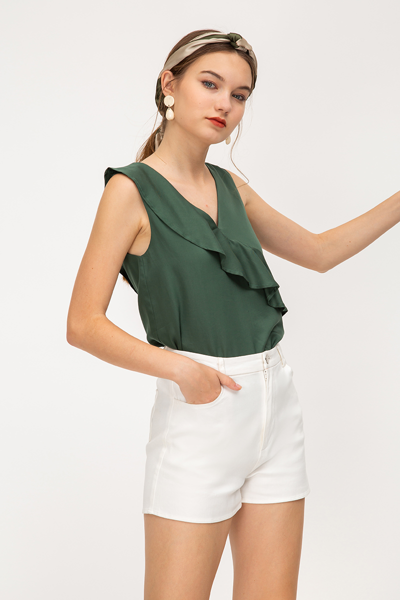 NADIA RUFFLE LAYERED TOP