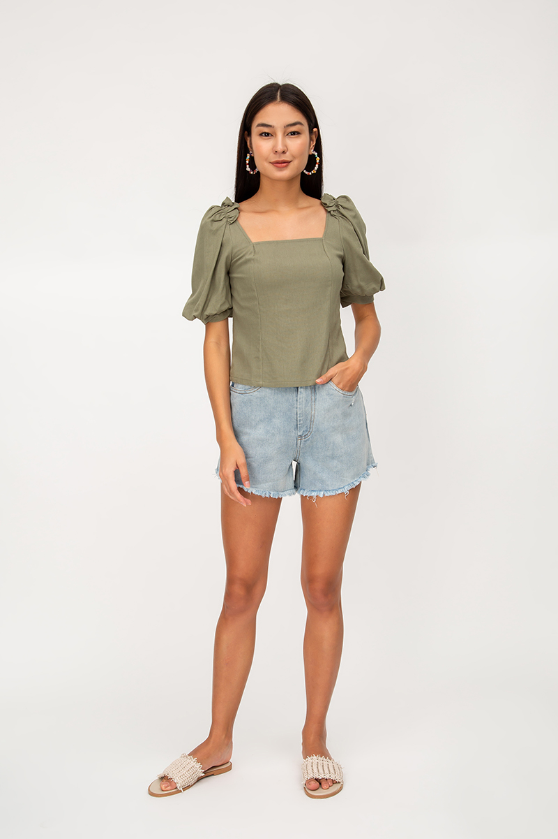 QUINN PUFF SLEEVE TOP