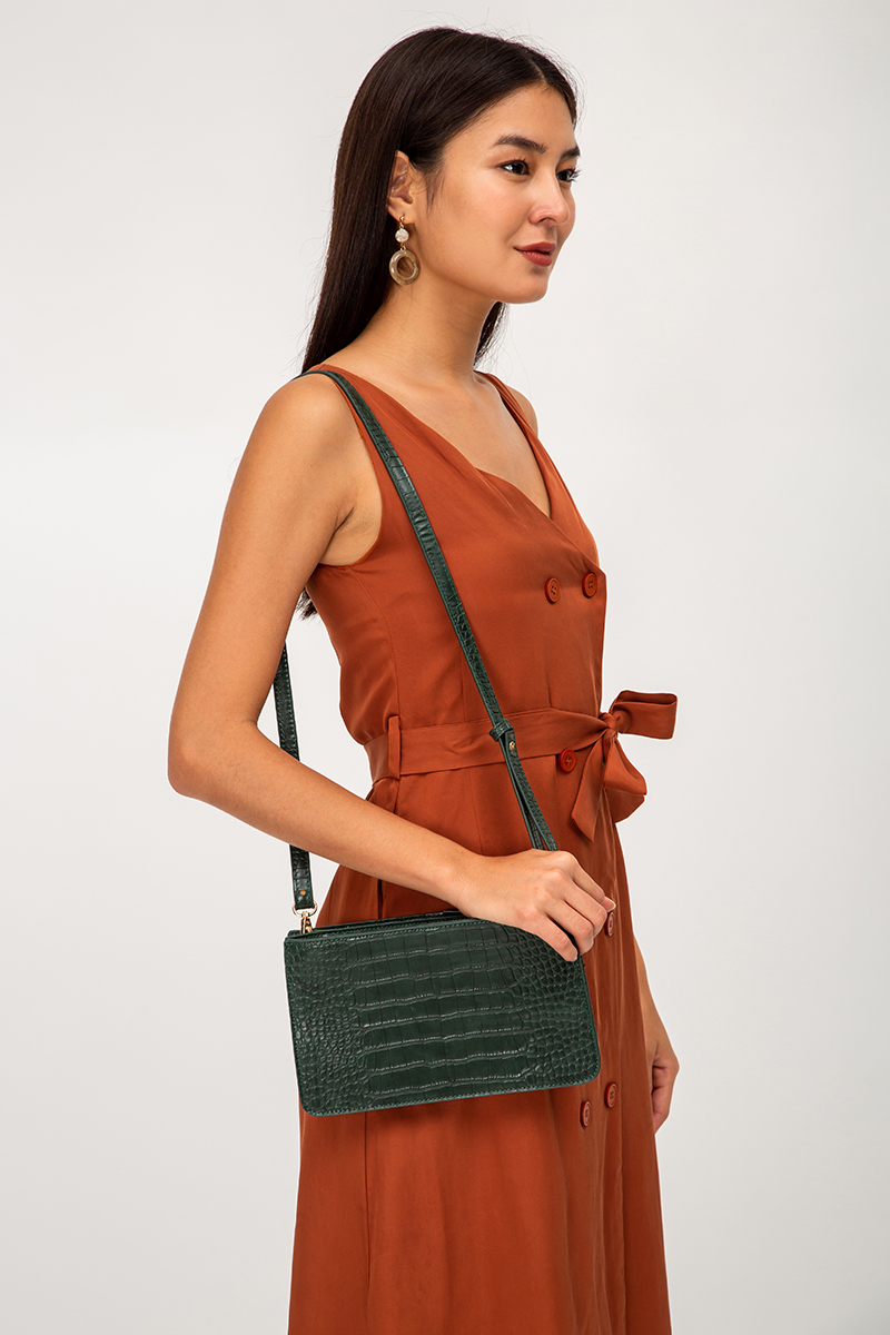 KESSIDY FAUX LEATHER SLING