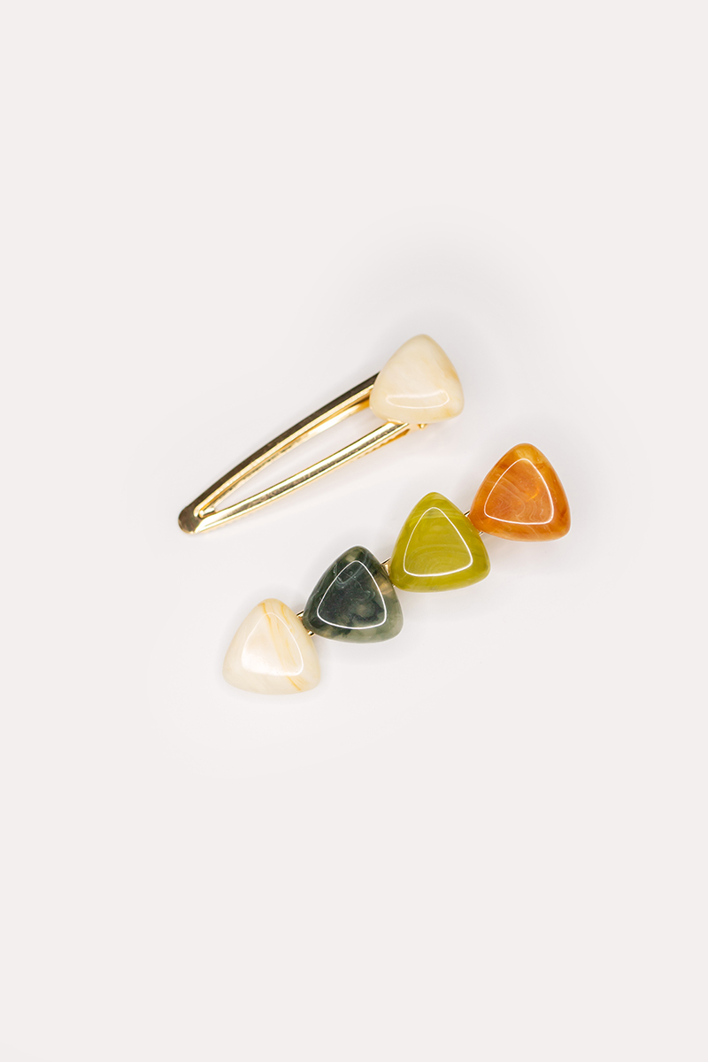 QUADRUPLE RESIN TRIANGLE CLIPS (SET OF 2)
